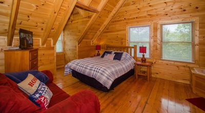 Photo for Private Pigeon Forge Cabin on an acre of trees-Hot Tub, Fire Pit & Games!