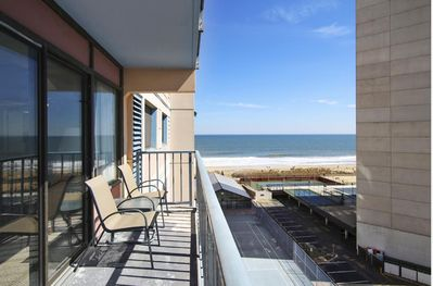 Ocean view from private balcony