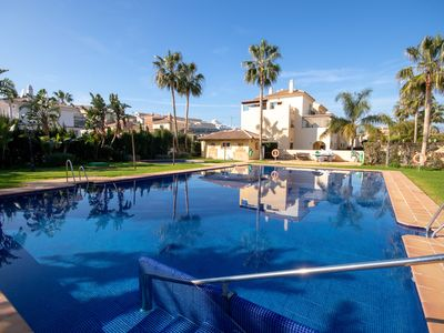 Photo for 2 Bedroom Apartment with sunny terrace close to La Cala Town Centre