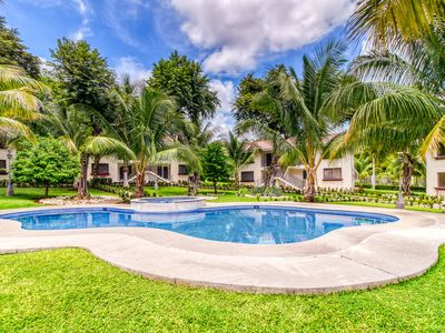 Photo for Relaxing apartment in a great location w/ shared pool, pool spa, gated entrance
