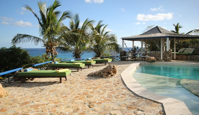 Photo for The Carib House, Turtle Bay 5 room villa, pool, views, beach, English Harbour