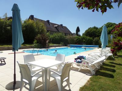 Photo for 7 Cottages in 100 acres, heated pool. Near Pont Aven, Concarneau, beaches 15km