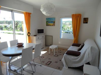 Photo for LAVANDOU - Charming T2 with large terrace and parking. Air-conditioned room.