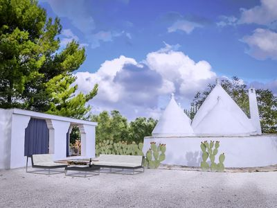 Photo for New: original trullo with private pool, olive grove, and not overlooked