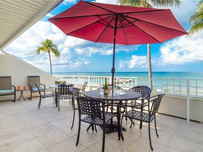 Photo for Experience gorgeous views of the ocean from this unit's Oceanfront balcony right on 7 Mile Beach!