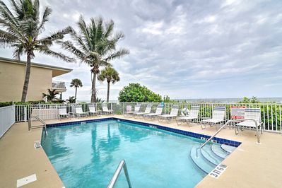 Relax by the community pool and listen to the Gulf of Mexico nearby.