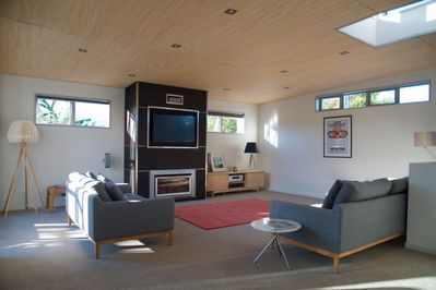Living area with gas fire