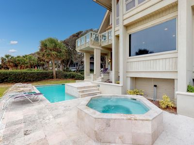 Photo for Oceanfront house w/ private pool, hot tub & beach access - great for groups!