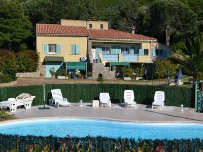 Photo for Above villa in a quiet countryside and 10 minutes from the beaches of Calvi.