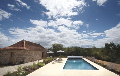 Photo for Romantic Deluxe Cottage for Two in Idyllic setting.  Large HEATED private pool