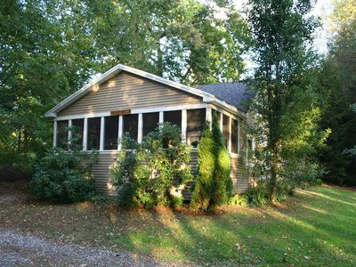 Photo for Adorable 2 Bedroom Lake Cottage- Very Quiet and Private!