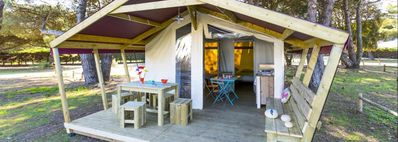 Photo for Camping Les Genêts **** - Free Flower Comfort 3 rooms 2/4 people Without Sanitary