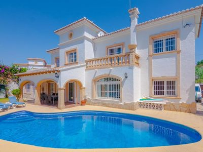 Photo for ARENAS, villa 200 meters from the beach of Cala Fustera, Benissa free wifi