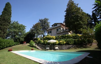 Photo for Rome with a difference!Private Villa with Pool by the Lake BRACCIANO.