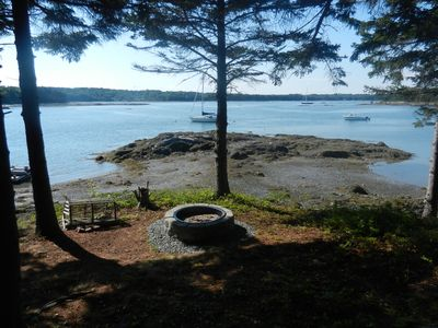 The Fire Pit and Beach at Low Tide