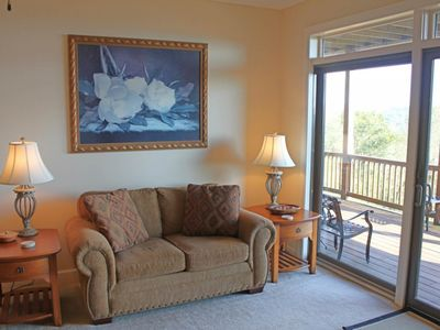 Photo for Spacious condo w/views of Grandfather Mountain, private deck and level parking
