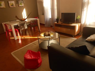 Photo for PROMOTION IN APRIL for this beautiful apartment downtown Pezenas near the beaches
