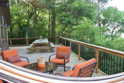 Complete privacy on the most relaxing deck!