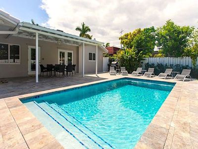 Photo for Luxury 5BR/3BA Home Minutes To Beach Heated Pool