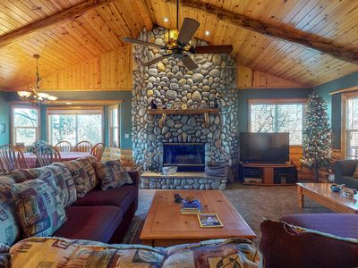 Photo for Warm and cozy log home with expansive deck and fantastic views!