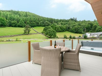 Photo for Llyn Dinas Lodge - Two Bedroom House, Sleeps 4