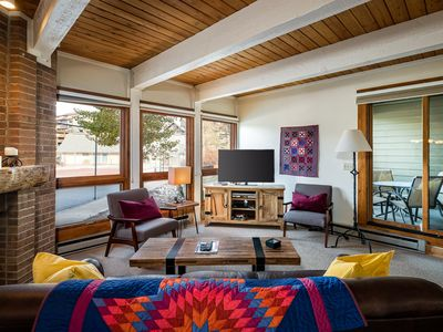 Photo for Comfortable retreat near the slopes w/ patio, shared pool, & hot tub!