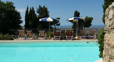 Photo for Villa with private pool and seaview. Tuscan country house,luxury property Lucca