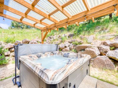 Photo for Dog-friendly house w/ocean views, private hot tub, game room, & deck