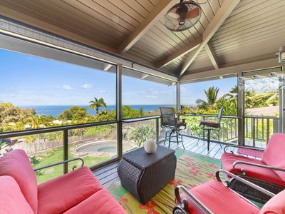 Photo for Private Ocean View House w/ Pond Style Jacuzzi, Backyard, Lanai
