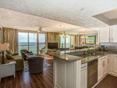 Photo for 2018 Remodeled beautiful beachfront condo! Everything your family needs on site.