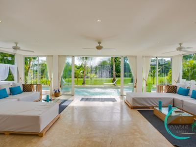 Photo for LUXURY VILLA WATERFALL,COCOTAL GOLF, 5BR,MAID,POOL