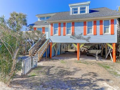 Photo for Classic 2nd Row Home - Loft, Private Dock, Marsh, River, & Ocean Views!
