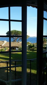 Photo for Apart. T3 seaside with magnificent views of the Gulf of St Trop 50m from the sea