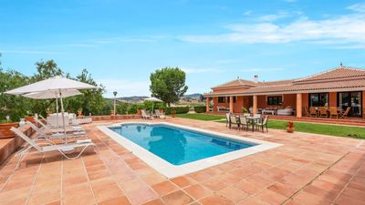 Photo for Holiday Home near the beach with fireplace and swimming pool in Almogía
