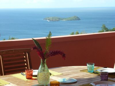 Photo for Villa with exceptional views of the Pigeon islet