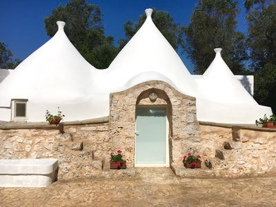 Photo for Trullo Il Melograno at L'Uliveto di Valeria, Free WIFI, POOL, Privacy