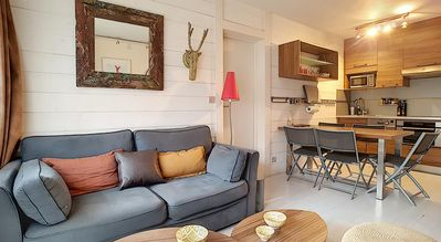 Photo for Apartment with contemporary decoration, 50 m from the slopes