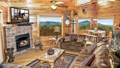 Photo for Unobstructive Mtn Views*End 0f Road Privacy*Free WiFi*Zipline50%*Pools*Easy Road