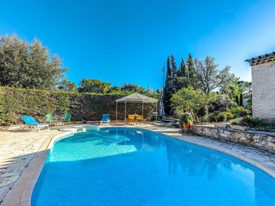 Photo for Stunning private villa for 8 guests with hot tub, WIFI, private pool, TV, balcony and parking