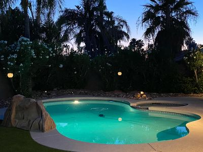 Photo for private pool/jacuzzi in south facing sunny yard, Kierland area with 6 bikes