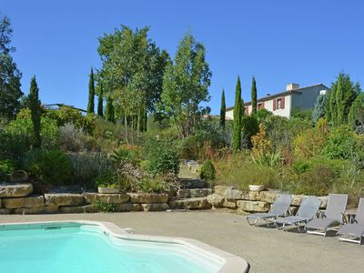 Photo for Luxury villa with private heated pool in beautiful nature, near Carcassonne