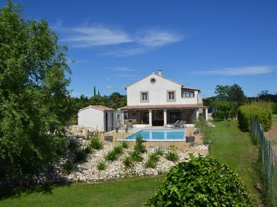 Photo for Farmhouse in the countryside with mature garden and swimming pool