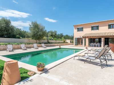 Photo for Modern Finca with Pool, Wi-Fi, Terrace and Sea View; 2 Parking Spaces Available