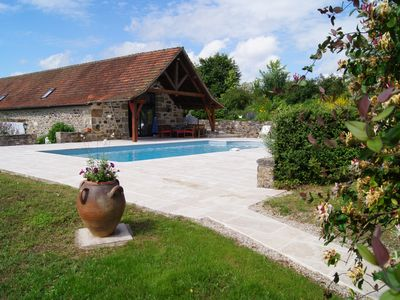 Photo for Cottage with pool close to Lacapelle Marival, calmness guaranteed