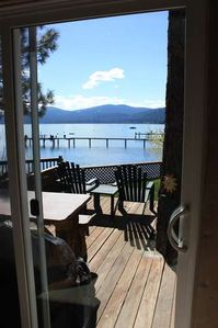 Photo for Perfect jewel of a lakefront! firepit, outdoor kitchen, PANO lake views!