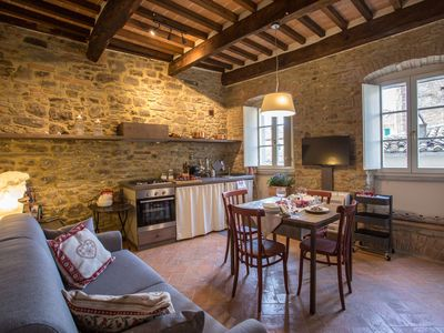 Photo for 1BR Apartment Vacation Rental in Cortona, Tuscany