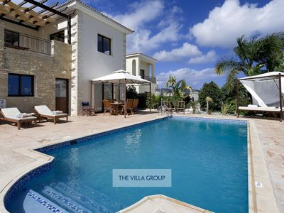 Photo for Neo Chorio Villa, Sleeps 8 with Pool, Air Con and WiFi