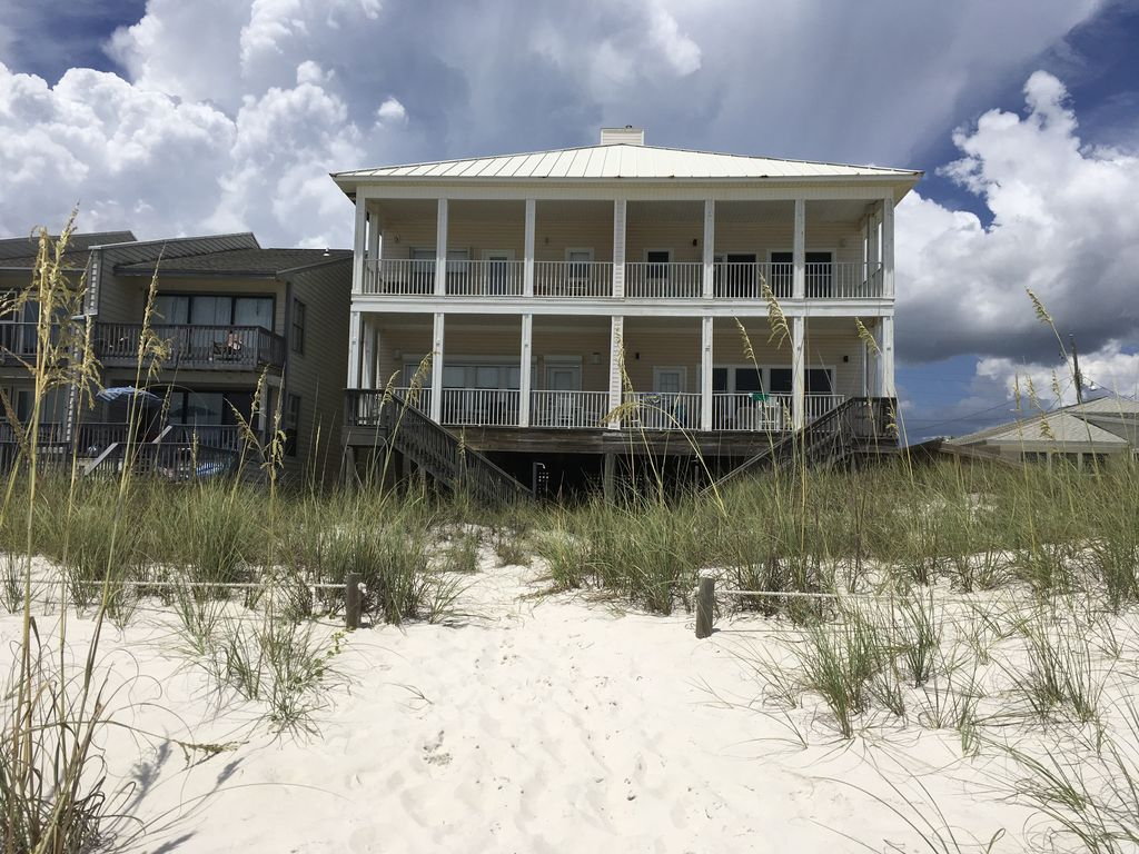 Gulf Front-Beach Side -Beautiful House 2680 q ft-Step off the balcony onto beach