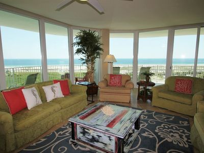 Photo for Caribe C910- Lovely Gulf View,Large Terrace,Lazy River,Pool Slides!