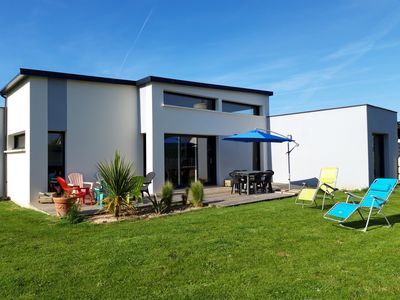 Photo for Very recent house of even foot calm quarter in Locquirec close to the sea